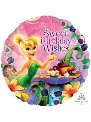 "17"" Tinker Bell Happy Birthday Wishes Disney Balloon"