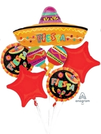 Fiesta Fun Balloon Bouquet Asst.