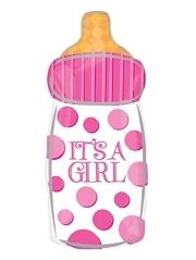 "23"" It's A Girl Baby Bottle Balloon"