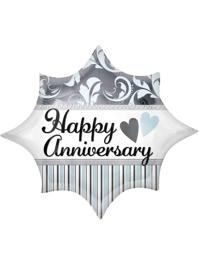 "20"" Elegant Happy Anniversary Burst Balloon"