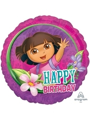 "17"" Dora Happy Birthday Balloon"