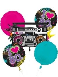 Totally 80's Music Balloon Assortment