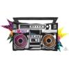 """35"""" Totally 80's Boombox Music Balloon"""