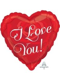 "17"" Love You Rose & Heart Balloon"