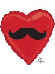 "18"" Mustache Heart Balloon"
