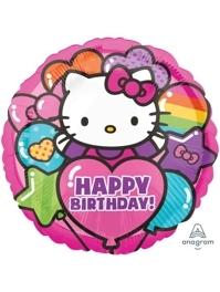 """17"""" Hellow Kitty Rainbow Happy Birthday Balloon"""