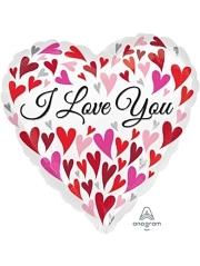 """17"""" Love You Happy Hearts Balloon"""