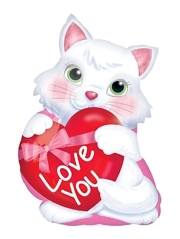 "20"" Kitty With Heart Love You Balloon Shape"