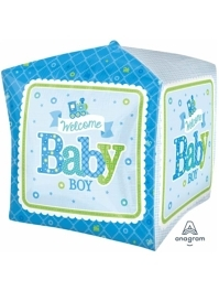"15"" Welcome Baby Boy Train Balloon"