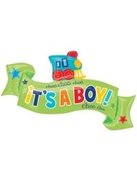 "40"" Welcome Little One Boy Baby Balloon"
