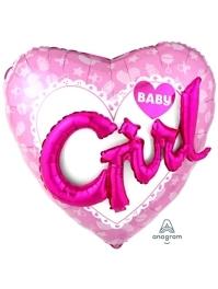 "36"" Celebrate Baby Girl Balloon"