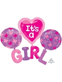 "51"" It's A Girl Baby Balloon"