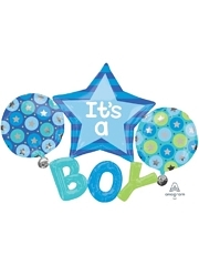 "53"" It's A Boy Baby Balloon"
