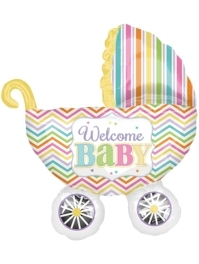 """31"""" Baby Brights Carriage Balloon"""
