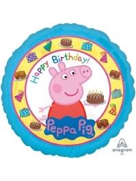 "17"" Peppa Pig Happy Birthday Balloon"
