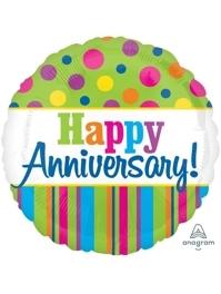 "17"" Bright Anniversary Balloon"