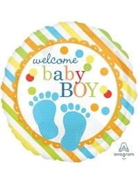 "18"" Baby Feet Boy Balloon"