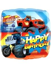 "17"" Blaze Happy Birthday Balloon"