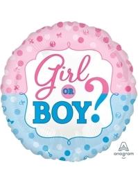 "17"" Gender Reveal Baby Balloon"