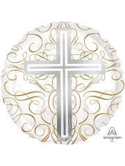 "18"" Elegant Cross Religious Balloon"