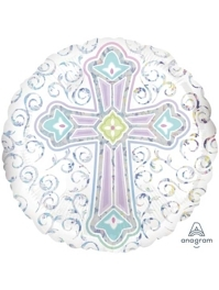 "18"" Radiant Cross Religious Balloon"