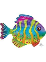 "33"" Colorful Fish Ocean Balloon"