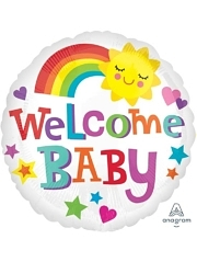 "17"" Welcome Baby Bright & Bold Balloon"