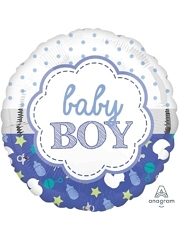 """17"""" Baby Boy Scallop Balloon"""