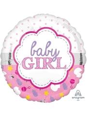 """17"""" Baby Girl Scallop Balloon"""