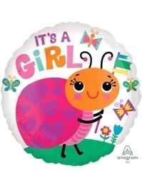 """17"""" It's A Girl Ladybug Baby Balloon"""