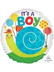"17"" It's A Boy Snail Baby Balloon"