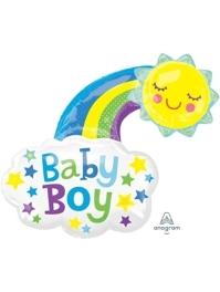 "30"" Baby Boy Bright Happy Sun Balloon"