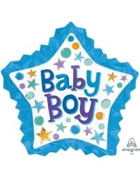 "34"" Baby Boy Star With Ruffle Balloon"