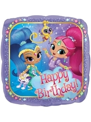 "17"" Shimmer & Shine Birthday Balloon"