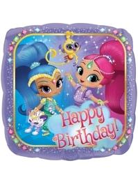 "17"" Shimmer & Shine Birthday Balloon"