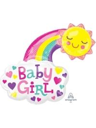 "30"" Baby Girl Bright Happy Sun Balloon"