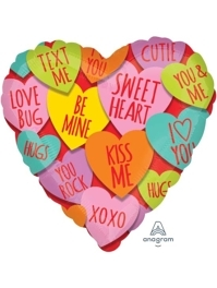 "17"" Hearts With Messages Love Balloon"