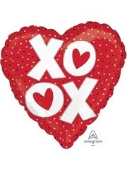 "17"" OX Dots I Love You Balloon"