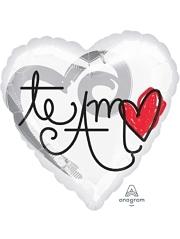 "17"" Te Amo Red Heart Balloon"