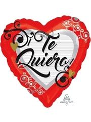 "17"" Te Quiero Swirls Balloon"