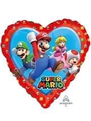 "17"" Mario Love Heart Shape Balloon"