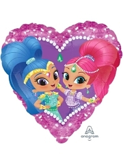 "17"" Shimmer & Shine Love Balloon"