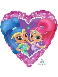 """17"""" Shimmer & Shine Love Balloon"""