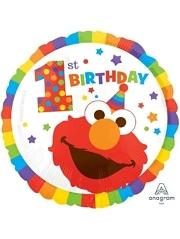 """17"""" Sesame Street 1st Birthday Balloon"""