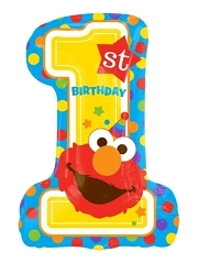 """28"""" Sesame Street 1st Birthday Balloon"""