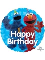 "17"" Sesame Street Fun Happy Birthday Balloon"