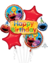 Sesame Street Fun Birthday Balloon Assortment