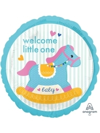 "17"" Baby Shower Rocking Horse Balloon"