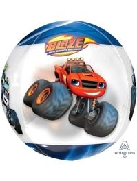 "16"" Blaze Orbz Clear Balloon"