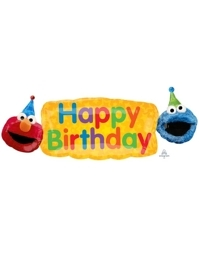 "42"" Elmo Fun Shape Sesame Street Balloon"